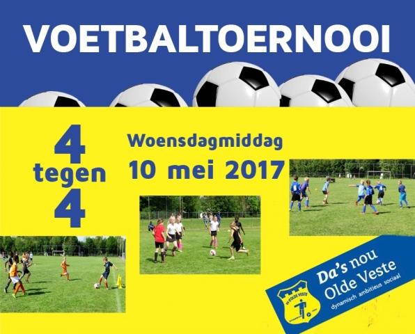 2de  4X4 Voetbal Toernooi 10 mei 2017