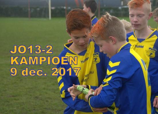 Zaterdag 9 december, 10.15u d'Olde Veste JO13-2 – V.V. Steenwijk JO13-1