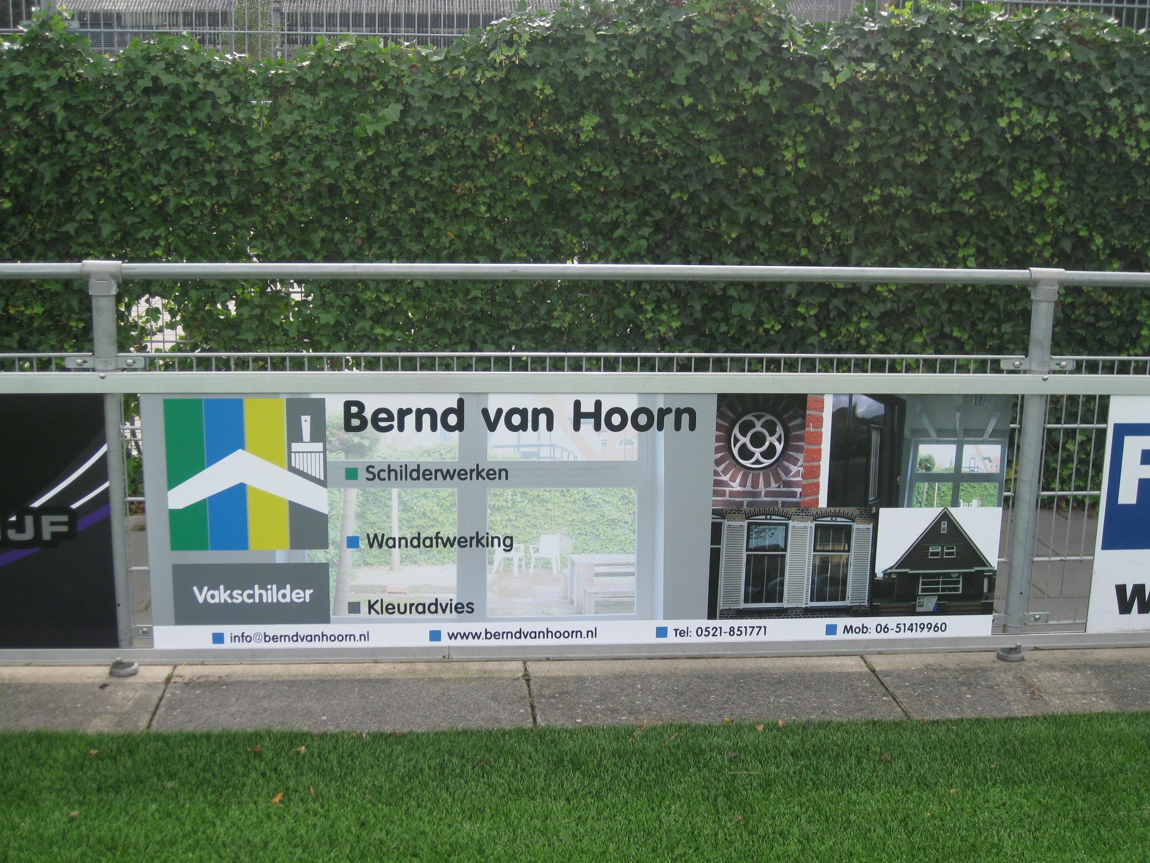 Nieuwe bordsponsor : Bernd van Hoorn