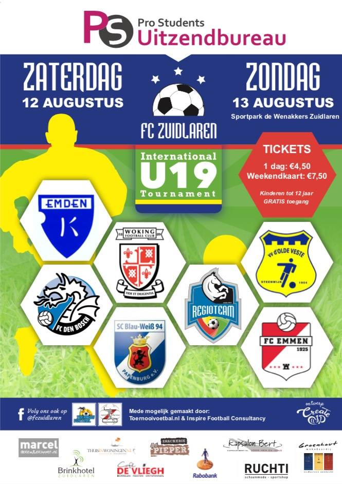 Aankomend weekend speelt OV U19 een internationaal toernooi !