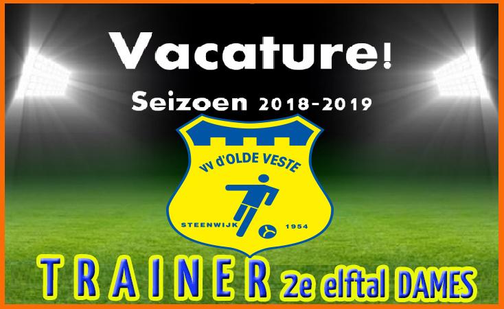Vacature trainer 2e elftal dames 'd Olde Veste '54