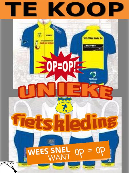 TE KOOP : Unieke Olde Veste FIETSKLEDING !!!
