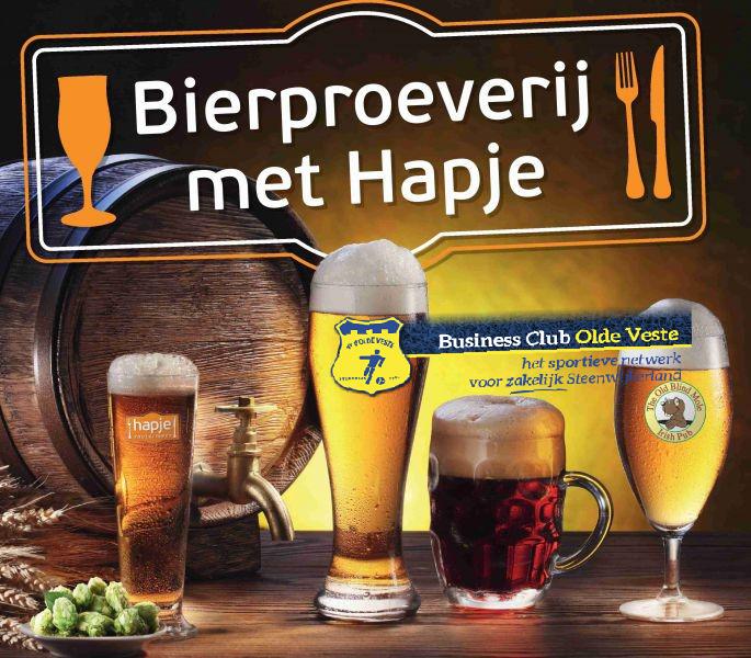 Bierproeverij met een Aziatisch buffet voor sponsoren