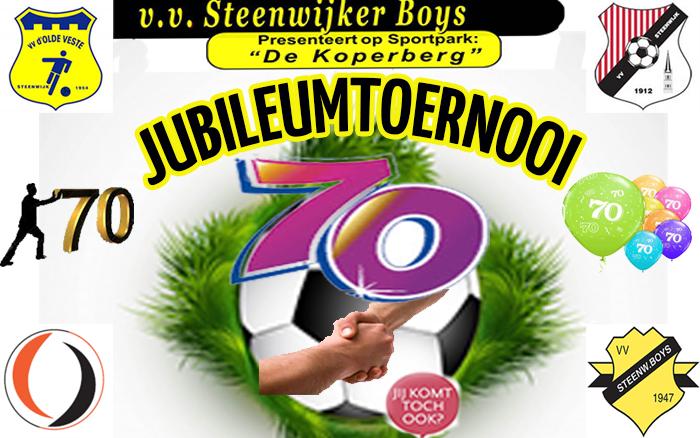 70 jarig jubileum toernooi van STEENWIJKER BOYS