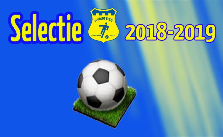 Selectie vv d' Olde Veste '54 2018 – 2019