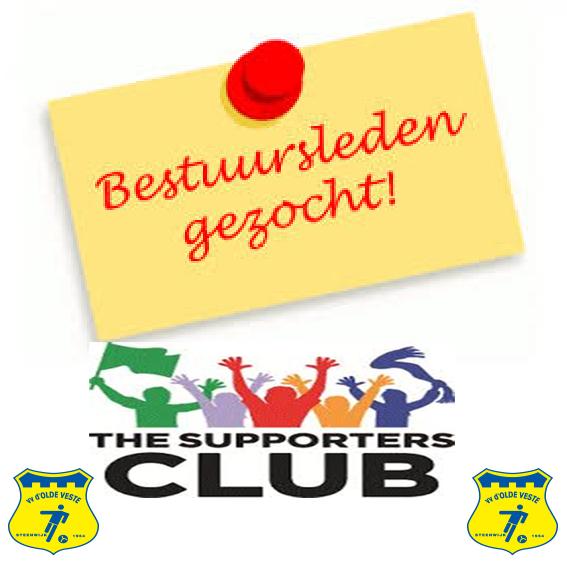 Bestuursleden gezocht voor de supportersclub !