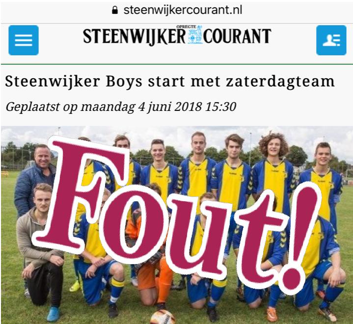 Bestuurlijk reactie richting Steenwijker Courant op vertrek OV 3