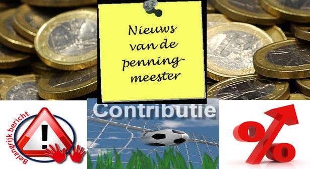 Aanpassing  contributietarieven